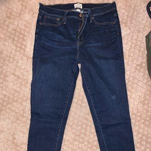 "J. Crew 9"" High-Rise Toothpick Denim Jeans"